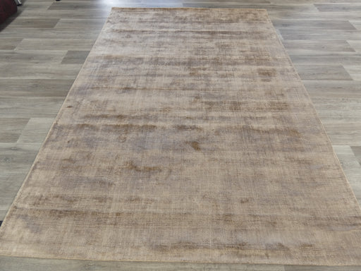 Latte Colour Hand Loomed Bamboo Silk Look Rug