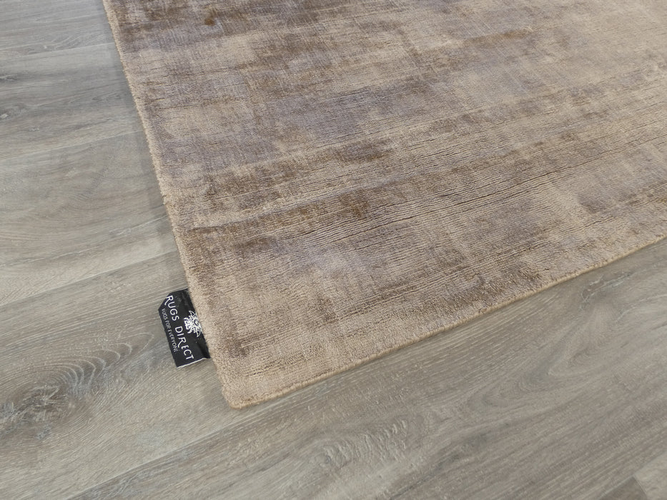 Latte Colour Hand Loomed Bamboo Silk Look Rug-Bamboo Silk-Rugs Direct