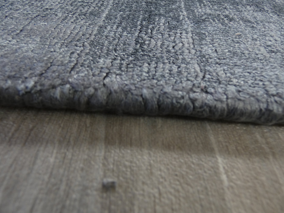Midnight Colour Hand Loomed Bamboo Silk Look Rug-Bamboo Silk-Rugs Direct