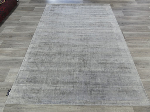Stone Colour Hand Loomed Bamboo Silk Look Rug-Bamboo Silk-Rugs Direct