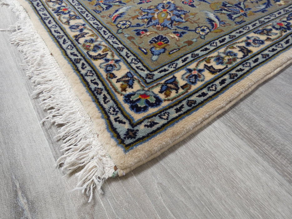 Floral Persian Hand Knotted Kashan Rug Size: 200 x 300cm-Persian Rug-Rugs Direct