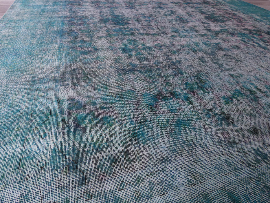 Overdyed Handmade Vintage Persian Rug Size: 347 x 241cm-Overdyed Rug-Rugs Direct
