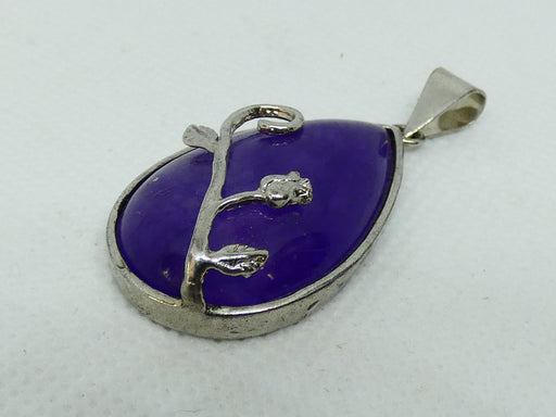 Top Quality Amethyst Gemstone Pendant Oval Cabochon Stone Pendant