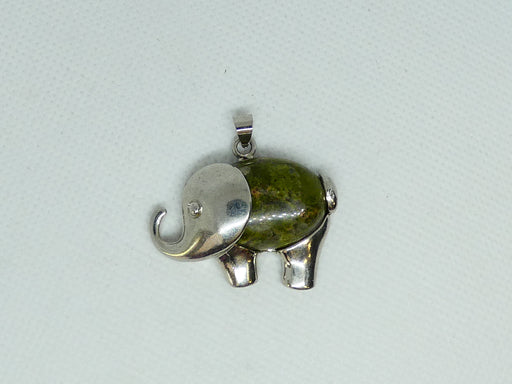 Top Quality Unakite Gemstone Elephant Design Cabochon Pendant
