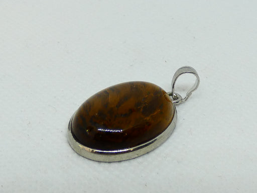 Top Quality Tiger Eye Gemstone Oval Cabochon Pendant