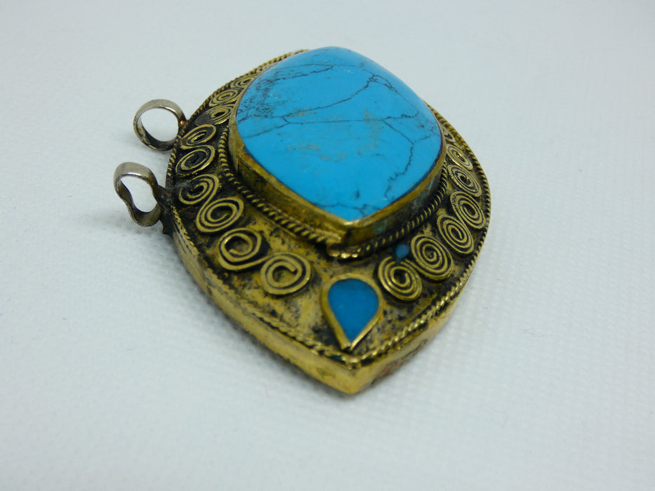 Afghan Necklace Pendant, Handmade and Traditional