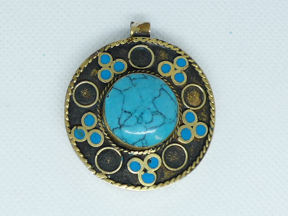 Afghan Kuchi Necklace Pendant, Handmade and Traditional