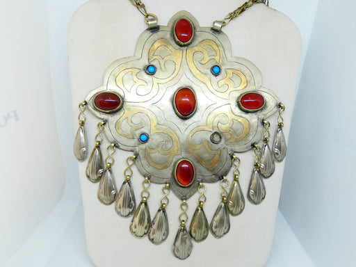 Afghan Tibetan Necklace, Handmade and Traditional