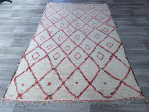 Vintage Handmade Moroccan Azilal Beni Ourain Rug Size: 254 x 162cm