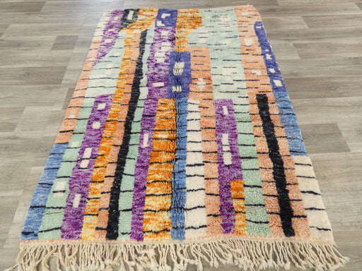 Mrirt Berber, Multi Colour Woollen Beautiful Moroccan Rug Size: 200 x 144cm