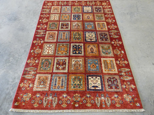 Afghan Hand Knotted Choubi Rug Size: 203 x 139cm