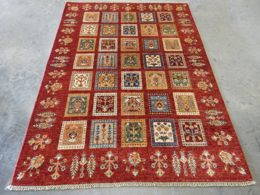 Afghan Hand Knotted Choubi Rug Size: 197 x 153cm