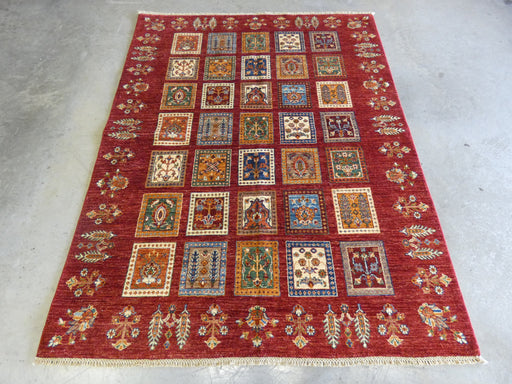 Afghan Hand Knotted Choubi Rug Size: 202 x 157cm