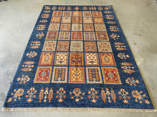 Afghan Hand Knotted Choubi Rug Size: 211 x 155cm