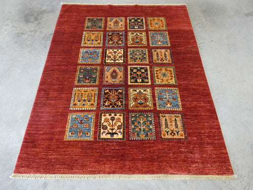 Afghan Hand Knotted Choubi Rug Size: 192 x 157cm