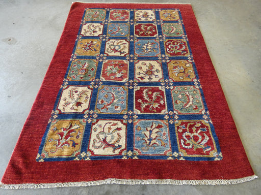 Afghan Hand Knotted Choubi Rug Size: 201 x 152cm