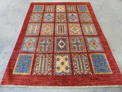 Afghan Hand Knotted Choubi Rug Size: 196 x 157cm
