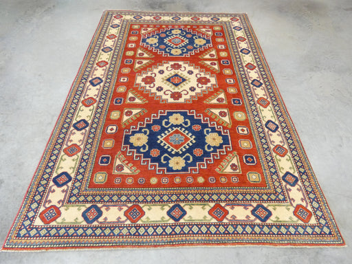 Afghan Hand Knotted Kazak Rug Size: 186 x 275cm