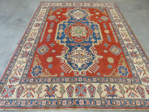 Afghan Hand Knotted Kazak Rug Size: 215 x 267cm