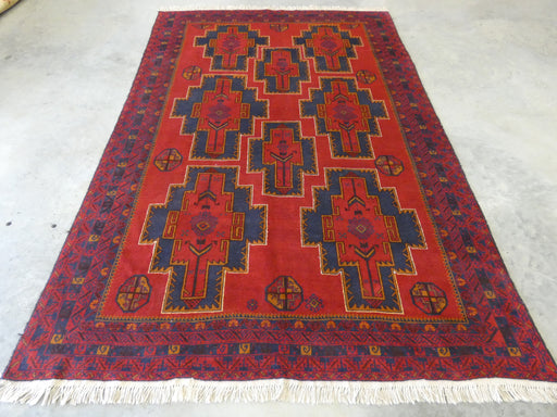 Afghan Hand Knotted Baluchi Rug Size: 196 x 293cm