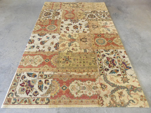 Hand Knotted Patchwork Design NZ Wool Rug Size: 177 x 274cm