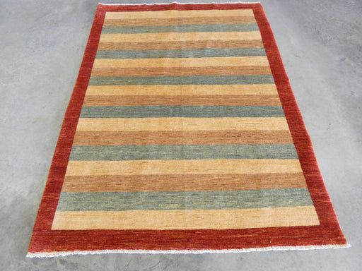 Afghan Hand Knotted Gabbeh Design Rug Size: 147 x 195cm