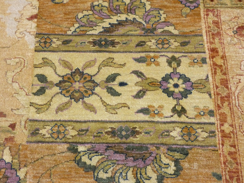 Hand Knotted Patchwork Design NZ Wool Rug Size: 184 x 274cm