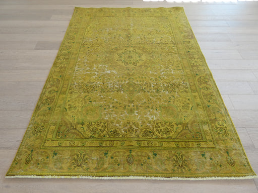 Persian Hand Knotted Vintage Overdyed Rug Size: 188 x 272cm