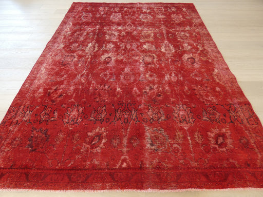 Persian Hand Knotted Vintage Overdyed Rug Size: 215 x 293cm