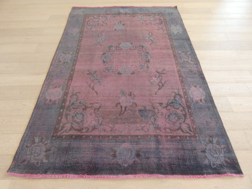 Persian Hand Knotted Vintage Overdyed Rug Size: 184 x 267cm