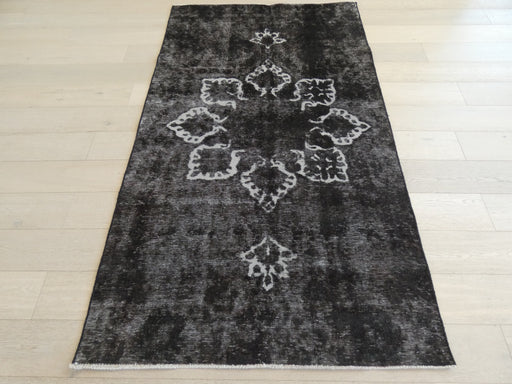 Persian Hand Knotted Vintage Overdyed Rug Size: 134 x 228cm