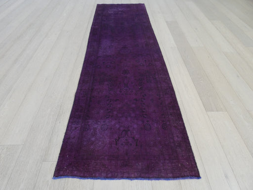 Persian Hand Knotted Vintage Overdyed Hallway Runner Size: 99 x 326cm