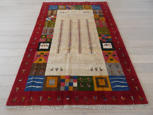Authentic Persian Hand Knotted Gabbeh Rug Size: 197 x 290cm