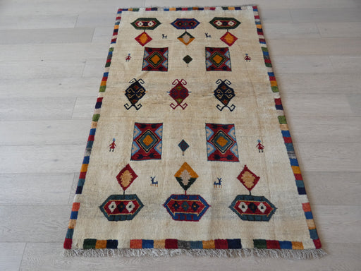 Authentic Persian Hand Knotted Gabbeh Rug Size: 130 x 195cm