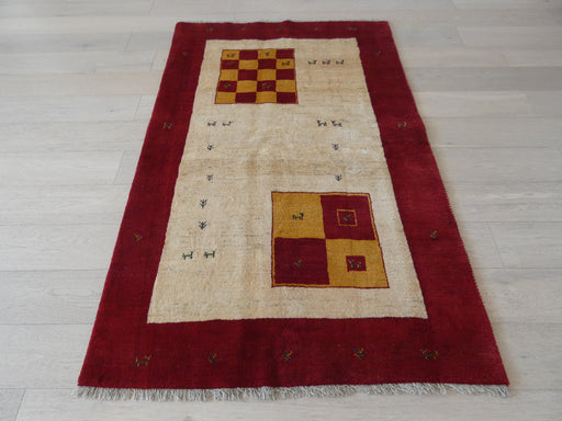 Authentic Persian Hand Knotted Gabbeh Rug Size: 127 x 194cm