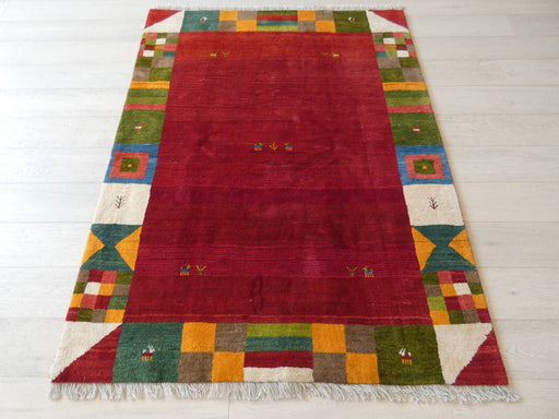 Authentic Persian Hand Knotted Gabbeh Rug Size: 150 x 195cm
