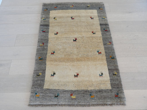 Authentic Persian Hand Knotted Gabbeh Rug Size:100 x 147cm