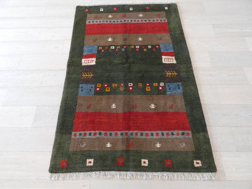 Authentic Persian Hand Knotted Gabbeh Rug Size: 120 x 180cm