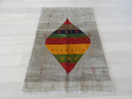 Authentic Persian Hand Knotted Gabbeh Rug Size: 107 x 160cm