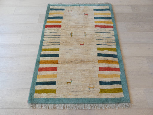 Authentic Persian Hand Knotted Gabbeh Rug Size: 104 x 150cm