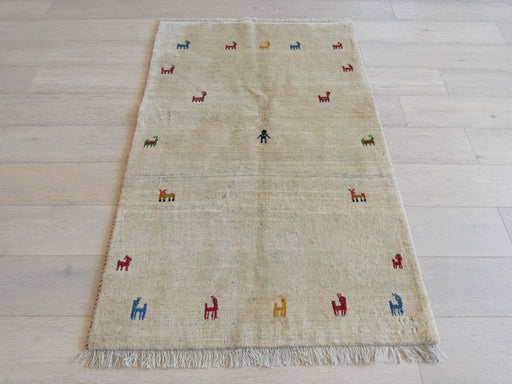 Authentic Persian Hand Knotted Gabbeh Rug Size: 101 x 155cm