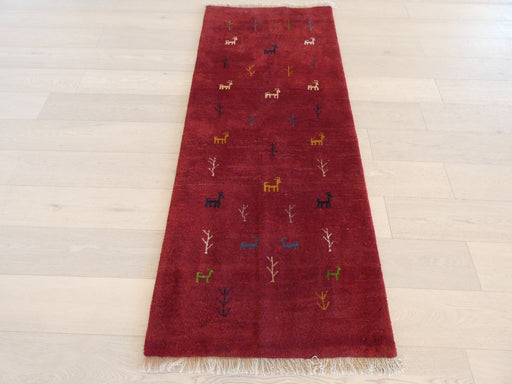Authentic Persian Hand Knotted Gabbeh Rug Size: 82 x 200cm