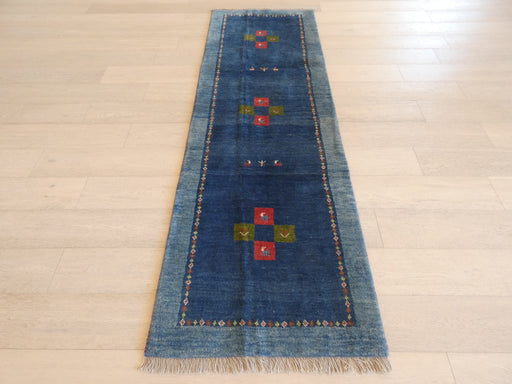 Authentic Persian Hand Knotted Gabbeh Runner Size: 80 x 249cm