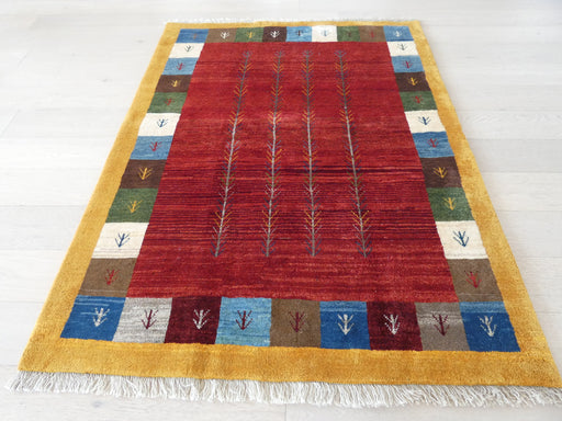 Authentic Persian Hand Knotted Gabbeh Rug Size: 153 x 193cm