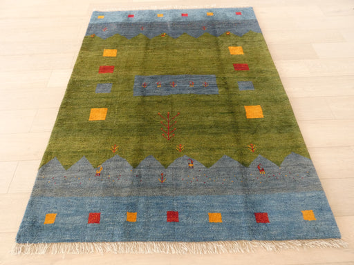 Authentic Persian Hand Knotted Gabbeh Rug Size: 150 x 196cm