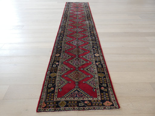 Persian Hand Knotted Hamadan Hallway Runner Size: 93 x 402cm