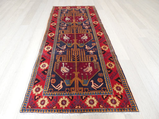 Persian Hand Knotted Meshkin Hallway Runner Rug Size: 128 x 290cm