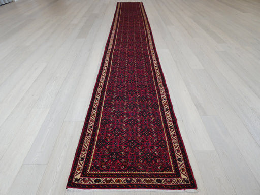 Persian Hand Knotted Hamadan Hallway Runner Size: 87 x 605cm