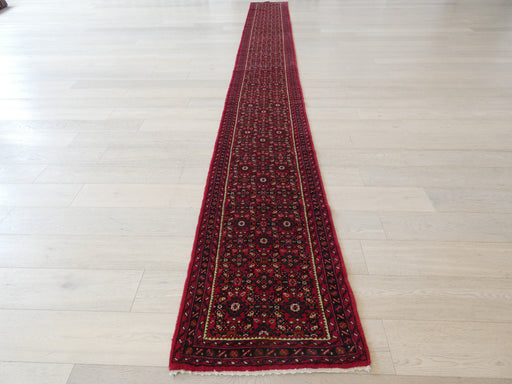 Persian Hand Knotted Hamadan Hallway Runner Size: 66 x 587cm