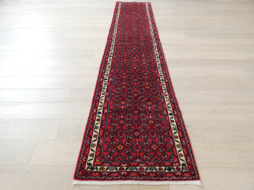 Persian Hand Knotted Hamadan Hallway Runner Size: 80 x 377cm
